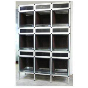 Aluminium-terrarium-stelling-9x-Dendrobaten-terraria-40x40x40cm
